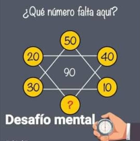 Desafío Mental ¿Qué Numero Falta?
